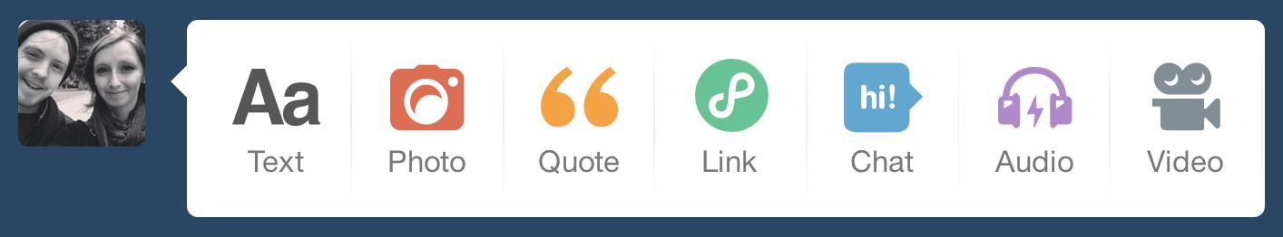 Tumblr Post Icons