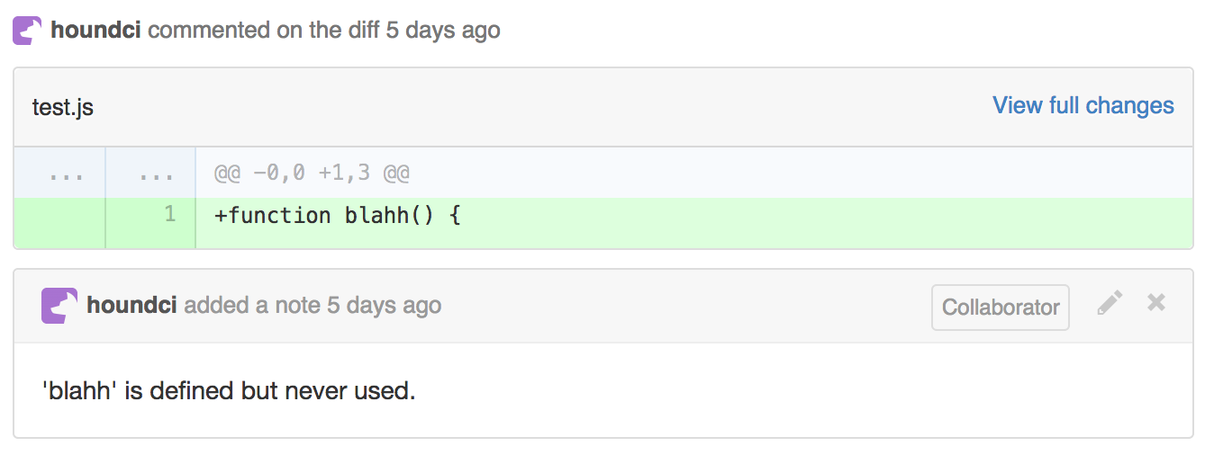 Hound Reviews JavaScript For Style Violations