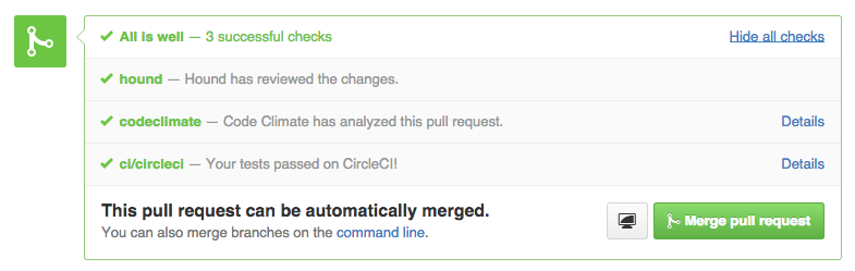 Multiple CI Services on a GitHub Pull Request