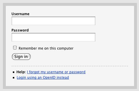 basecamp username form