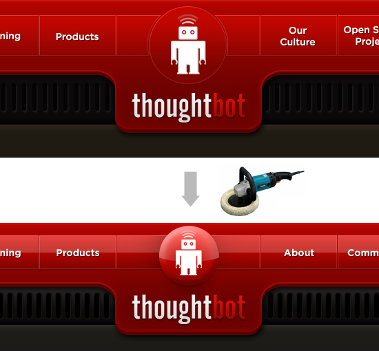 thoughtbot website header evolution