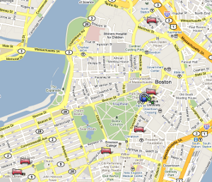 Map of hotels around thoughtbot