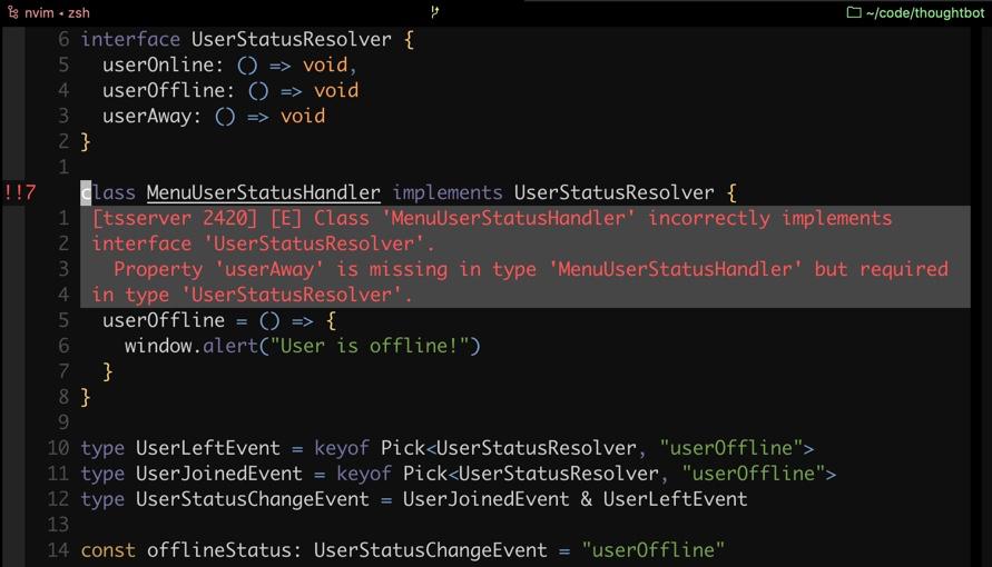 typescript compiler vim