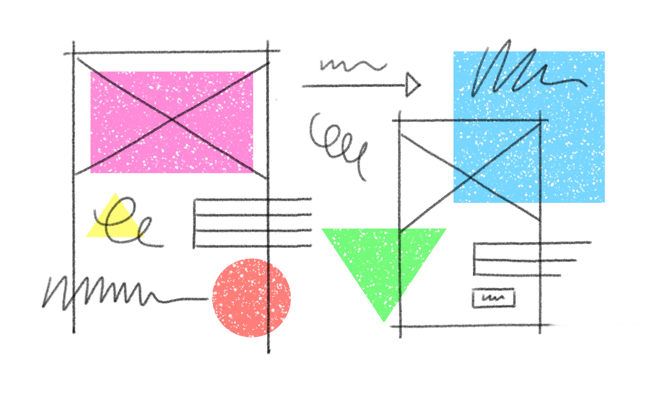 Abstract illustration of a storyboard