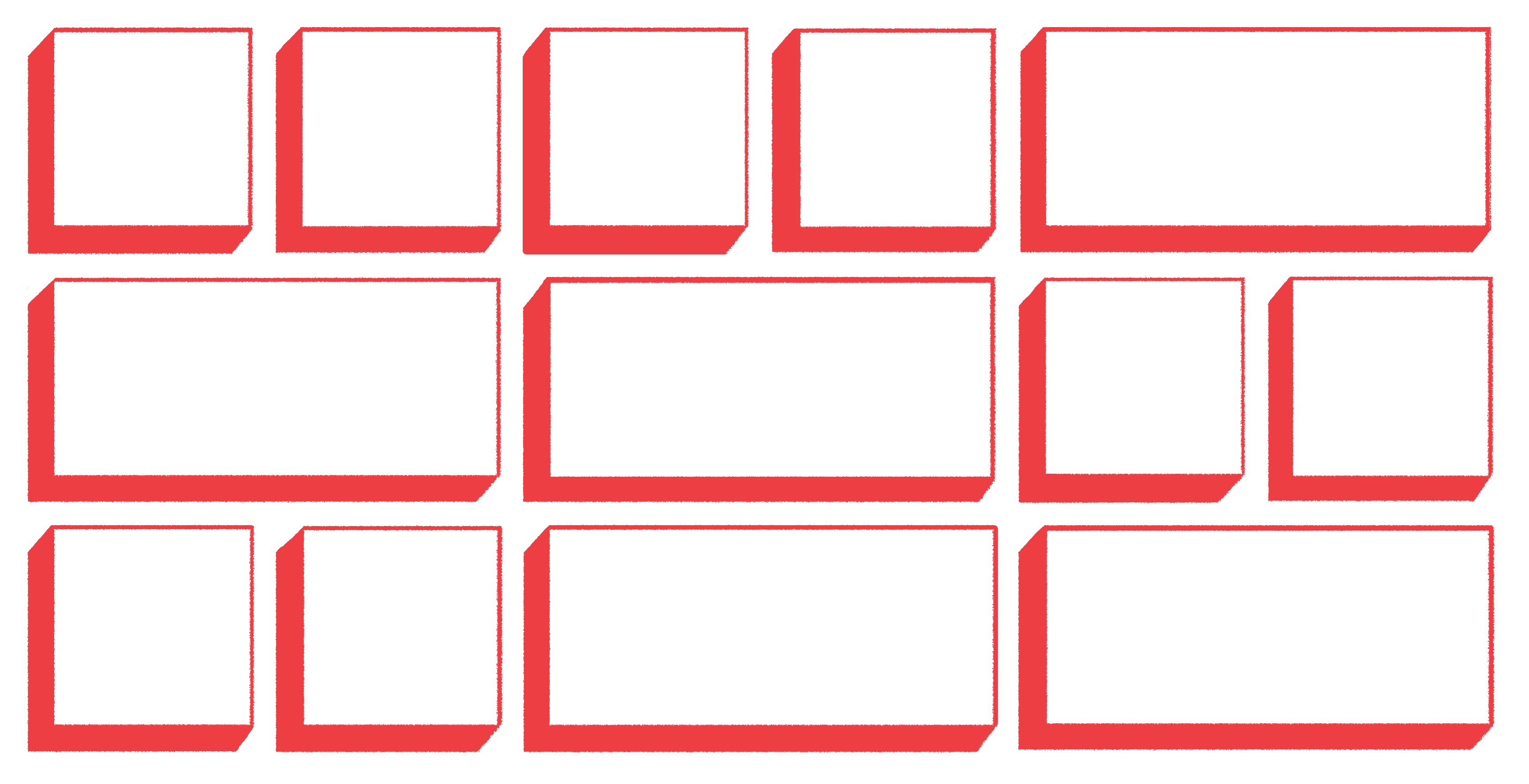 abstract illustration of grid layout