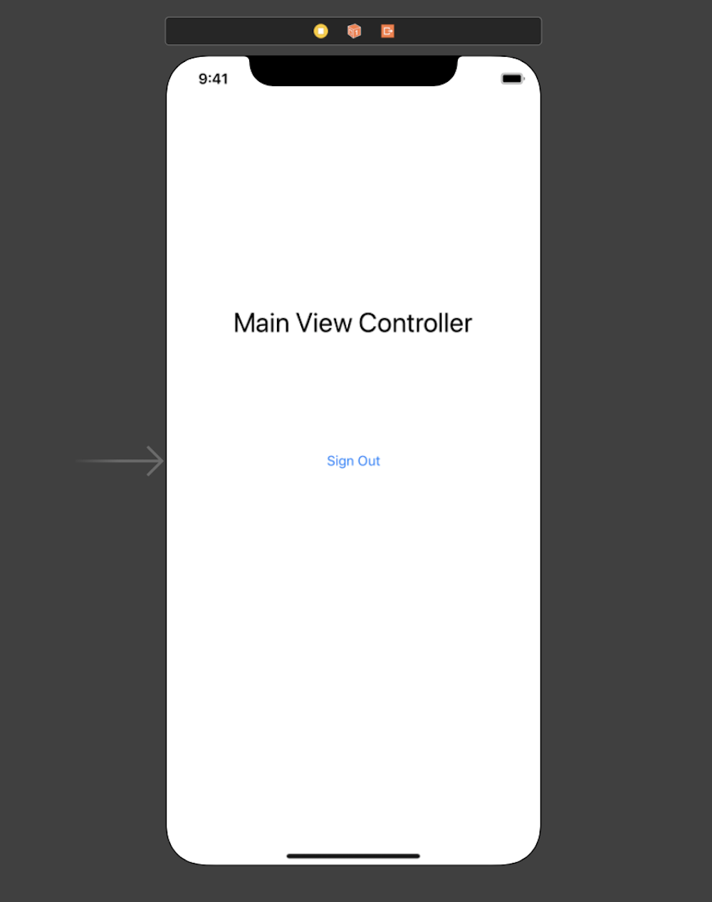 Main View Controller in Interface Builder