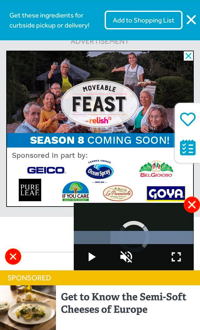 A mobile website completely obscured by overlapping banner ads, auto-playing video, sponsored content, and miscellaneous widgets.