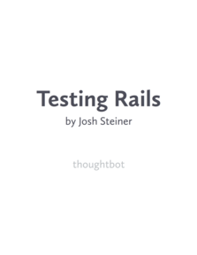 Testing Rails book cover