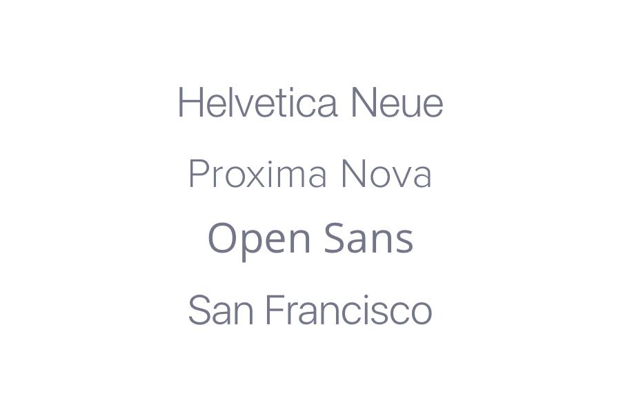 Popular Sans-Serif Fonts