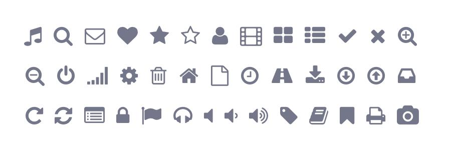 Font Awesome symbols