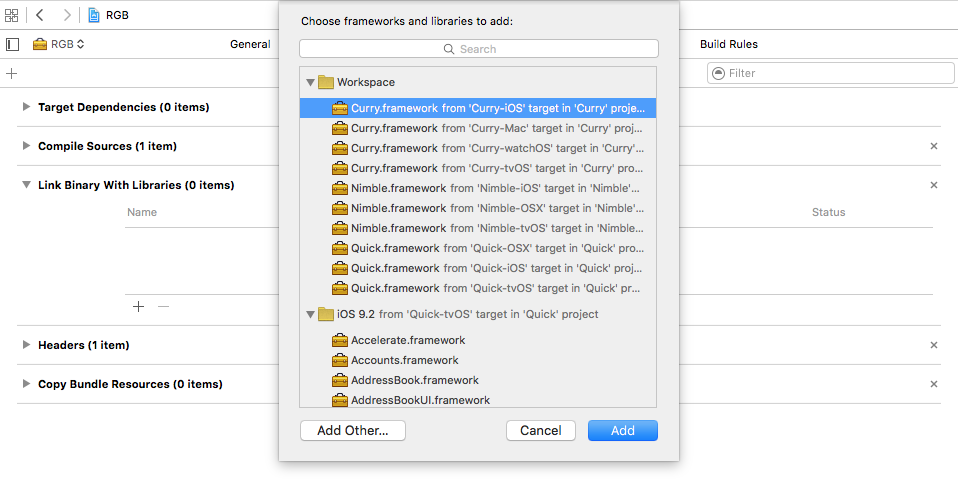 Creating your first iOS Framework