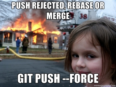 DO NOT USE GIT PUSH --FORCE!