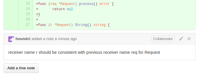 Go, Hound, and Code Review Comments