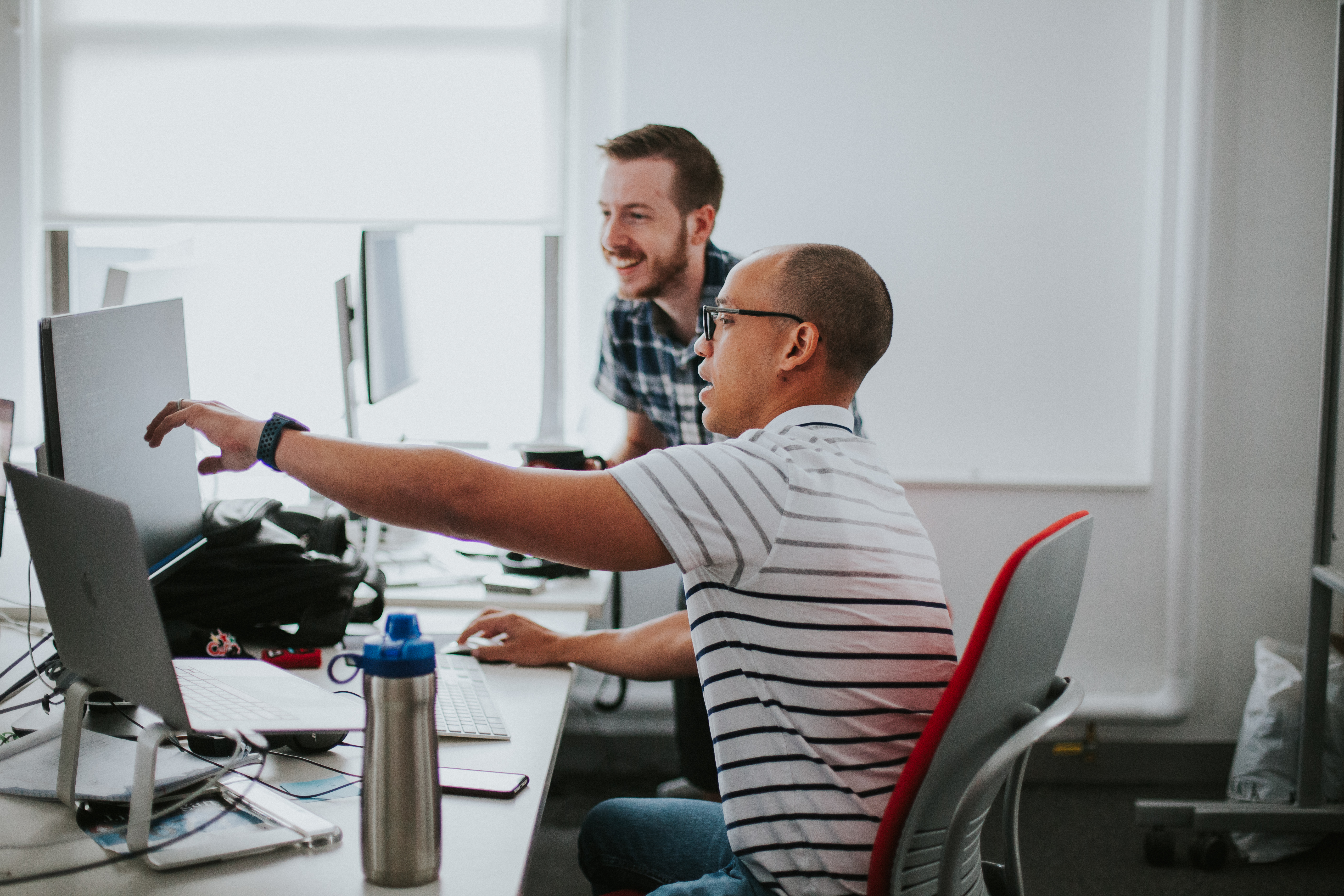 Two developers pair-programming