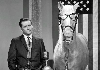 Mr. Ed giving a speech