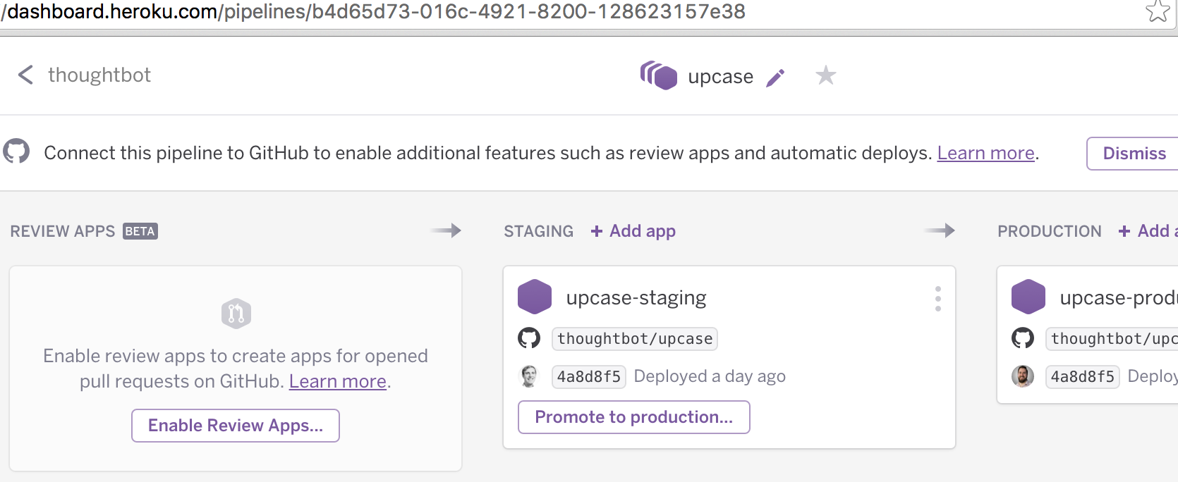 Running Acceptance with Heroku Review Apps