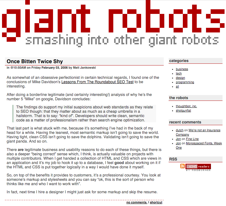 2005 blog