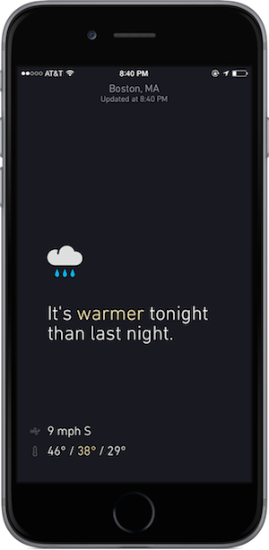 Tropos: Phrase-Based Weather Conditions